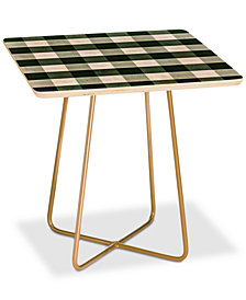 Deny Designs Monika Strigel Farmhouse Shabby Gingham Square Side Table