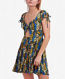 Free People Miss Right Cutout Skater Dress