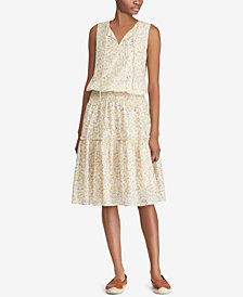 Lauren Ralph Lauren Floral-Print Voile Dress, Created for Macy's