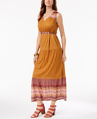 Petite Printed Maxi Dress, Created For Macy's by Style & Co