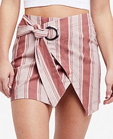 Free People Tuscan Sunrise Striped Mini Skirt