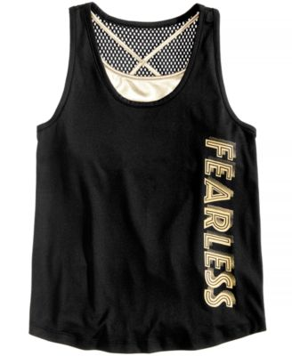 Big Girls Layered-Look Graphic-Print Tank Top, Created for Macy's