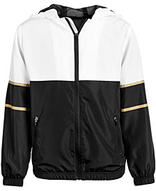 Ideology Big Boys Colorblocked Hooded Windbreaker Jacket, Created for Macy's