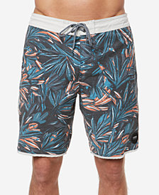 "O'Neill Men's Canvas Cruzer Tropical-Print 19"" Board Shorts"