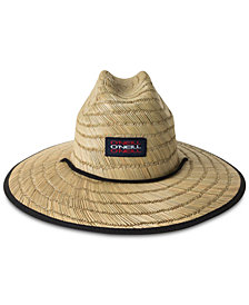 O'Nell Men's Flag-Print Straw Lifeguard Hat