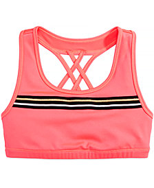 Ideology Big Girls Plus Cross-Back Sports Bra, Created for Macy's