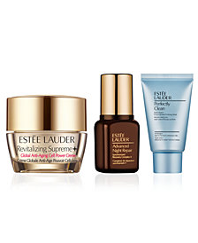 Choose your free 3pc skincare gift with $75 Estee Lauder purchase!