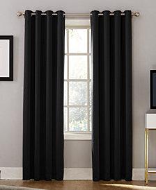 """Sun Zero Oslo 52"""" x 95"""" Theater Grade 100% Blackout Grommet Curtain Panel"""