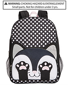 Global Design Concepts Little & Big Girls Dot-Print Cat Backpack