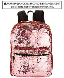 Accessory Innovations Little & Big Girls Reversible Brushed-Sequin Backpack