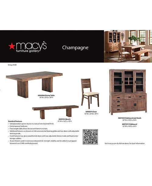 Furniture CLOSEOUT Champagne Dining Room Furniture Collection - Macy's champagne dining table