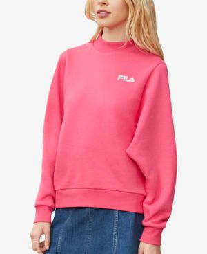 Fila Lightweight Relaxed Mock-Neck Sweatshirt