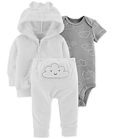 Carter's Baby Boys & Baby Girls 3-Pc. Jacket, Pants & Bodysuit Set