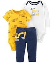 Carter s Baby Boys 3-Pc. Construction Bodysuits   Pants Set 19723373239