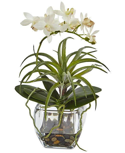 Nearly Natural Orchid & Artificial Succulent Faux Arrangement