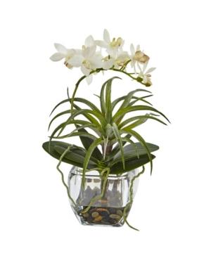 Nearly Natural Orchid  Succulent Faux Arrangement