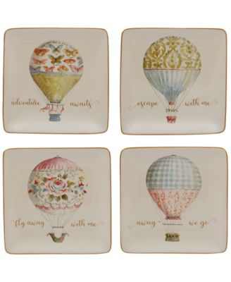 Beautiful Romance Balloon Canape Plates, Set of 4