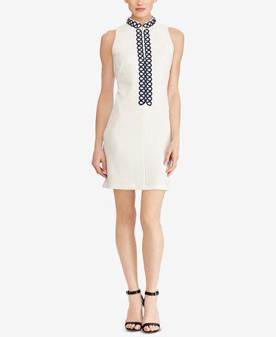 American Living Lace-Trim Jacquard Dress