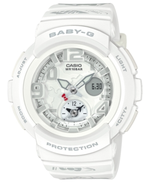 G-Shock G-SHOCK WOMEN'S ANALOG-DIGITAL HELLO KITTY WHITE RESIN STRAP WATCH 44.3MM - A LIMITED EDITION