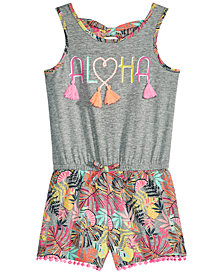 Epic Threads Little Girls Bow-Back Tank Romper, Created for Macy's