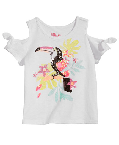 Epic Threads Little Girls Cold Shoulder T-Shirt, Created for Macy's