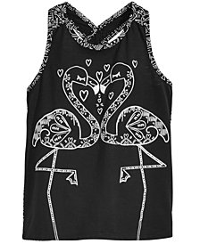 Epic Threads Little Girls Flamingo Kiss Tank Top, Created for Macy's