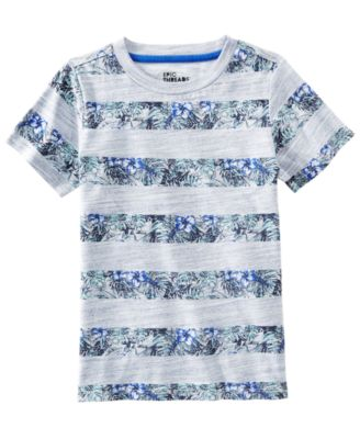 Little Boys Floral Striped T-Shirt, Created for Macy's