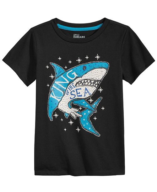 Epic Threads Toddler Boys Shark-Print T-Shirt, Created for Macy's