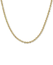 """Italian Gold Rope 20"""" Chain Necklace (3-3/4mm) in 14k Gold, Made in Italy"""