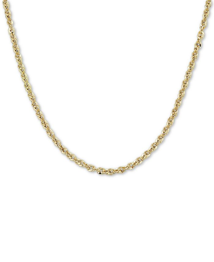 """Macy's - Single Row Rope 20"""" Chain Necklace in 14k Gold"""