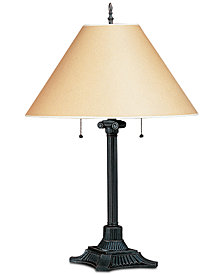 Cal Lighting 60W 2-Light Pull Chain Table Lamp