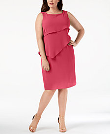 Jessica Howard Plus Size Tiered Shift Dress