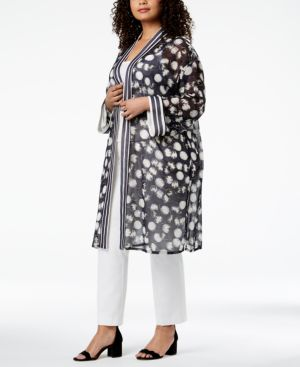 Image of Alfani Plus Size Printed Kimono, Created for Macy's