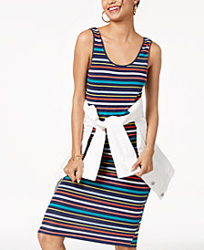 Planet Gold Juniors' Sleeveless Striped Bodycon Dress