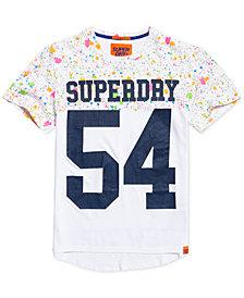Superdry Men's City Number Paint-Splatter Logo-Print T-Shirt