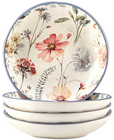 Certified International 4-Pc. Country Weekend Pasta Bowls Set