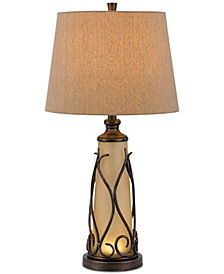Cal Lighting 150W 3-Way Taylor Table Lamp with 1W LED