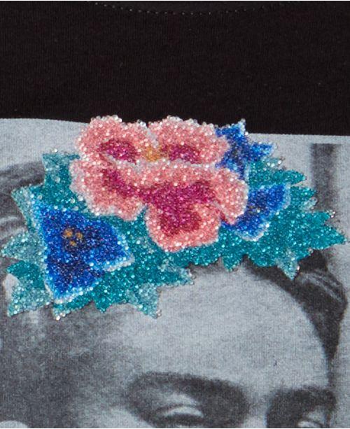 9ce87d873 True Vintage Cotton Caviar-Embellished Frida-Graphic T-Shirt ...