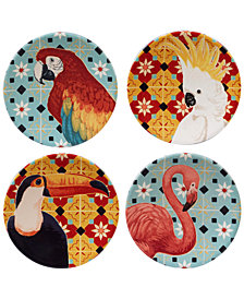Certified International Paradise Canapé Plates, Set of 4