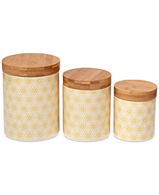 6-Pc. Chelsea Daisy Dots Canisters Mix & Match Set