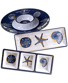 Certified International Calm Seas 3-Pc. Hostess Set
