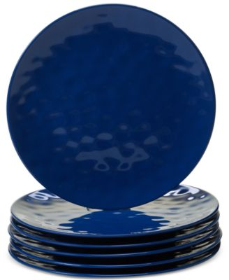 6-Pc. Cobalt Blue Melamine Dinner Plate Set