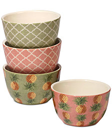 Certified International Floridian Ice Cream Bowls, Set of 4