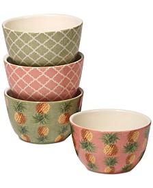 Certified International Floridian Ice Cream Bowls, Set of 4
