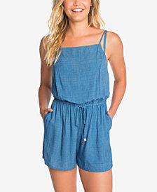 Vera Bradley Chambray & Chardonnay Romper Cover-Up