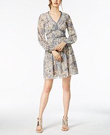 Taylor Paisley-Print A-Line Dress