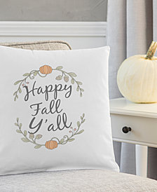 "Cathy's Concepts Happy Fall Y'all 16"" Square Decorative Pillow"