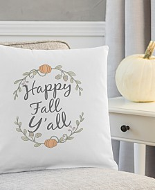 """Cathy's Concepts Happy Fall Y'all 16"""" Square Decorative Pillow"""