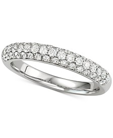 Diamond Pavé Band (5/8 ct. t.w.) in 14k White Gold