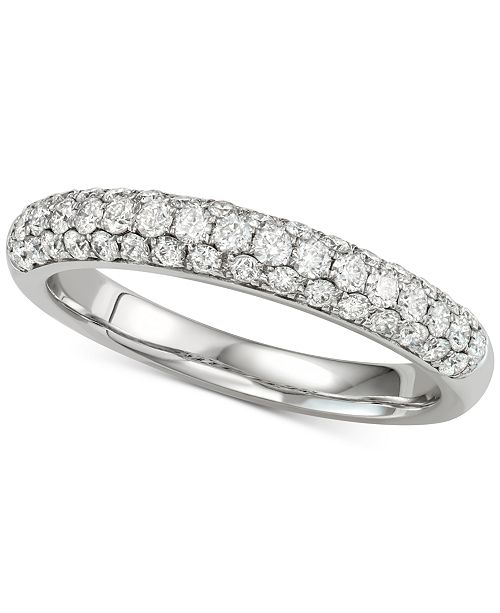 Macy's Diamond Pavé Band (5/8 ct. t.w.) in 14k White Gold